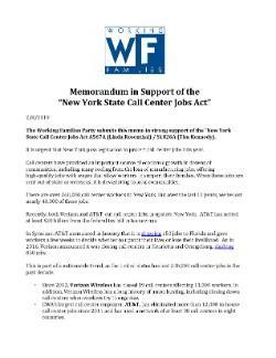 Working Families Party Memo of Support